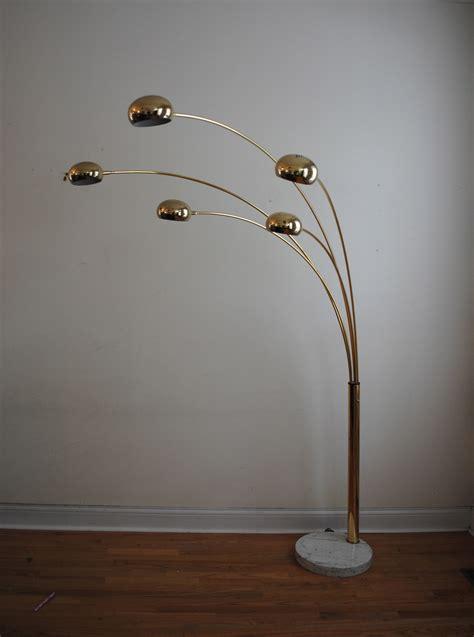 brass arc floor l vintage brass five arm arc floor l phylum furniture