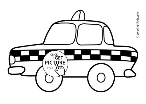 taxi transportation coloring pages for kids printable free