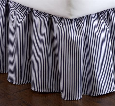 Black And White Striped Bed Skirt by Indigo And White Striped Bed Skirt From 41 Winks Things