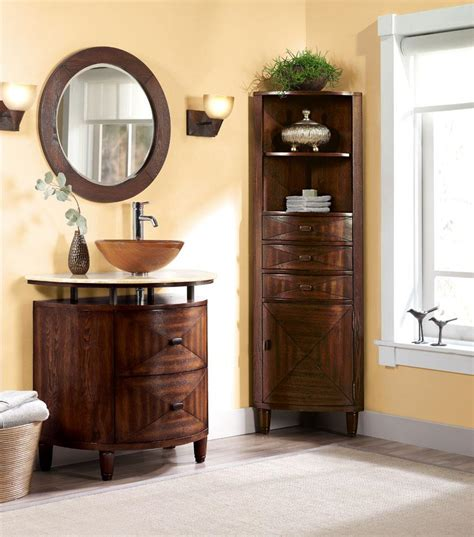 wooden corner bathroom cabinet corner bathroom mirror bathroom cabinet exceptional