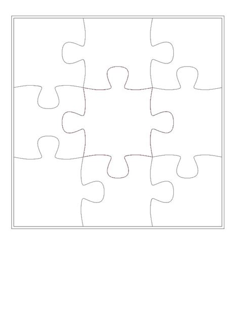 template for puzzle pieces free puzzle template printable