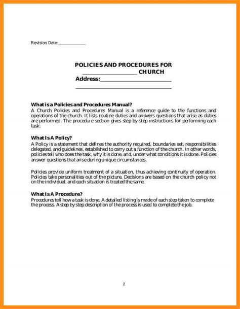 7 policy procedure manual template parts of resume