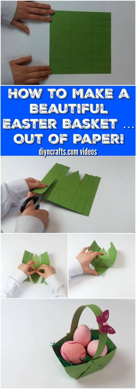 How To Make A Paper Basket - here is how to make a beautiful easter basket out of