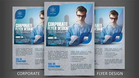 leaflet design tutorial photoshop print design corporate flyer photoshop tutorial youtube