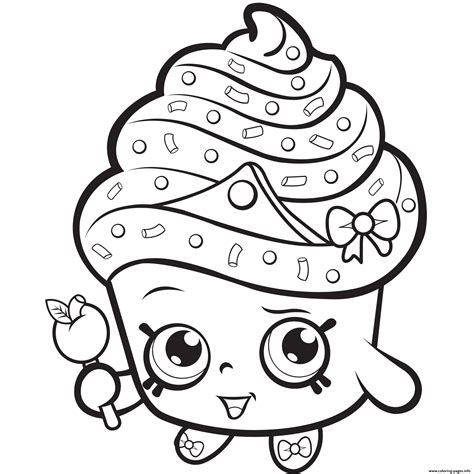 Shopkins Cupcake Princess Coloring Pages Printable Shopkins Coloring Pages Printable Pictures Of
