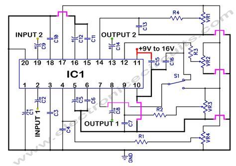 single knob tone schematic tone pcb