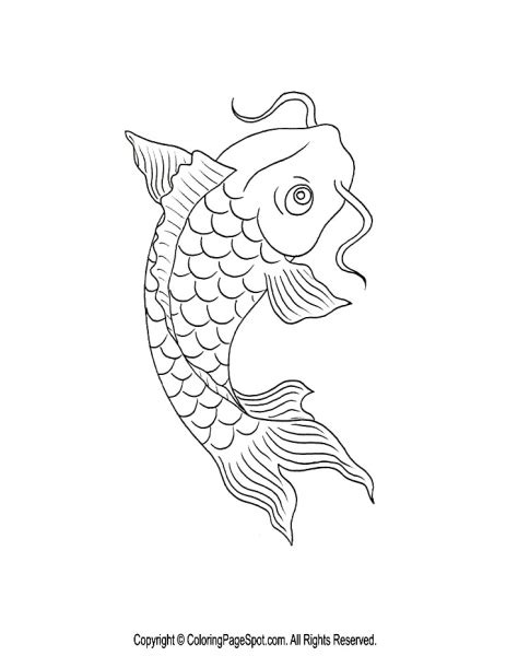 koi fish coloring pages pisces inspiration on dolphins