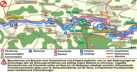 feuerstellen karte raonline schweiz wandern aargau reussuferweg gnadental
