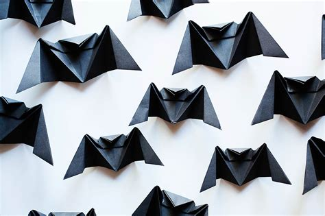 Easy Bat Origami - origami bat chandelier all for the boys