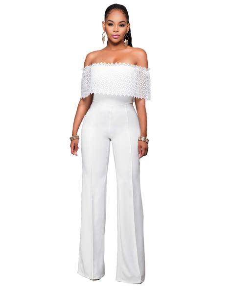 Palazo Overal 2 2017 2016 top sale plus size polyester solid lace jumpsuits and rompers for enteritos