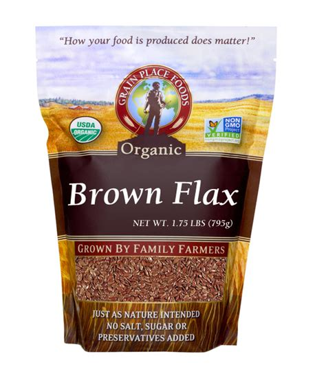 Brown Flaxseed 250 Gr organic brown flax seeds grain place foods