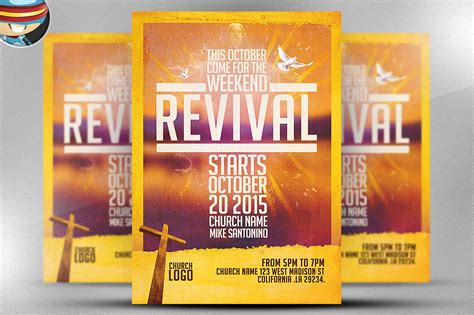 church revival flyer template flyer templates on
