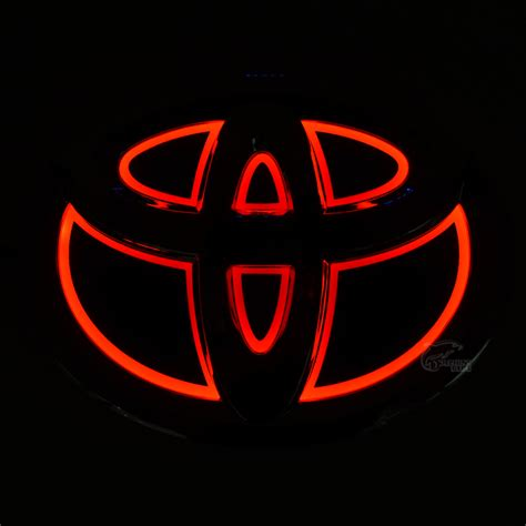logo toyota yaris new car 5d rear front badge emblem logo light for