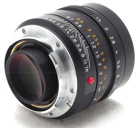 leica usa leica 35mm f 1 4 asph summilux m black 6 bit lens 11663
