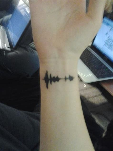 sound wave tattoos pin by blue on gonna to try this