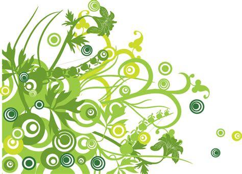 design foto vector 無料 グリーンフローラル ベクターグラフィック背景素材 free style