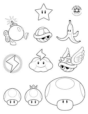 jimbo s coloring pages mario kart wii coloring pages