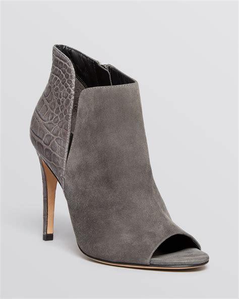 grey high heel booties sigerson morrison open toe booties maitee high heel in