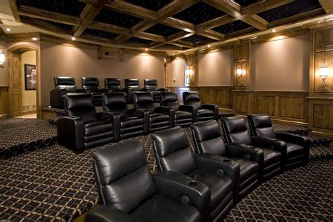 home theater room carpet theater carpet home theater traditional with leather chairs theatre coffered ceiling