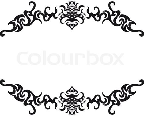 Gold Leaf Home Decor by Abstract Gothic Vector Frame For Design Use Stock Vector