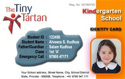 kindergarten school id card photoshop template school id card horizontal id card design by webbience