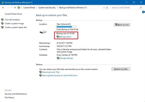 turn on or off schedule for windows backup in windows 10 windows