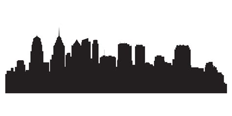City Outline Vector by City Skyline Outline Stencil Www Imgkid The Image Kid Has It
