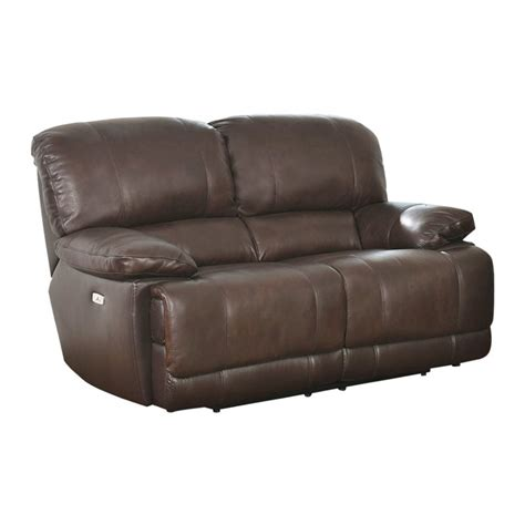 walker brown top grain leather power reclining sofa and loveseat abbyson living aspen leather power reclining loveseat in