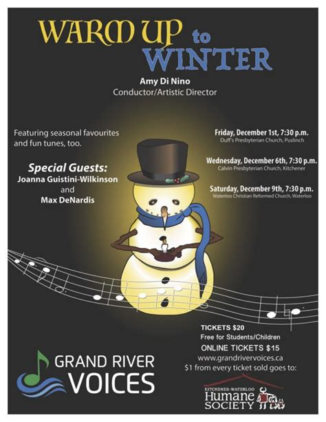 Calvin Presbyterian Church Kitchener by The Grand River Voices Invite You To Warm Up To Winter