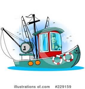 cartoon trawler boat trawler clipart 229159 illustration by djart