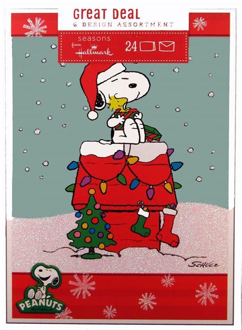 Snoopy Wall Stickers peanuts gang christmas card assortment snoopn4pnuts com