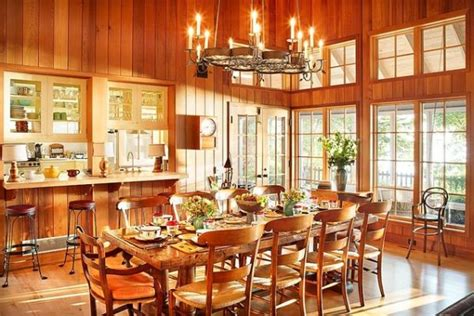 cozy  inviting country style dining rooms