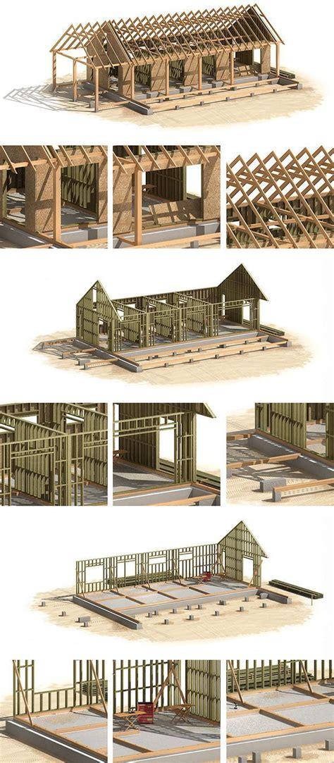 canadian wood frame house construction  behance madera