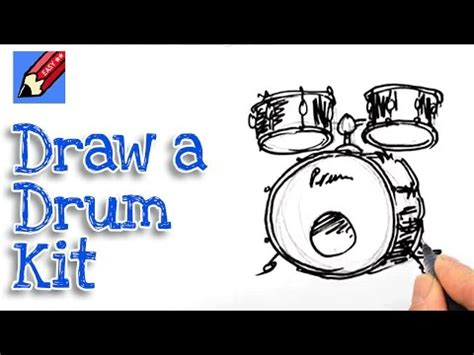 drum tutorial easy how to draw a bass drum and toms real easy spoken tutorial
