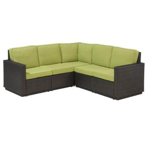 home depot outdoor sectional home styles riviera green apple patio sectional sofa 5803