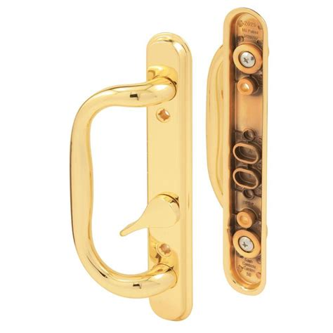 prime line brass plated sliding door handle set c 1287