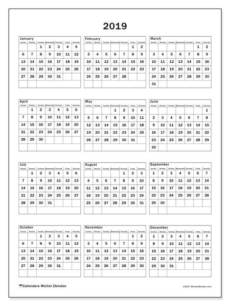 printable yearly calendar 2019 calendar 2019 36ss