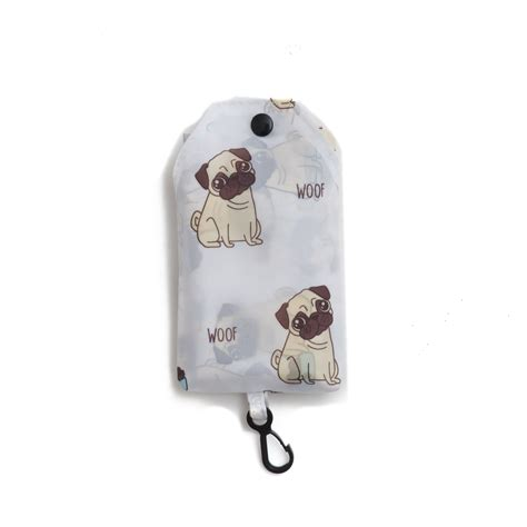 pug shopping bag shopping bag pugs woof puckator pirani pet shop