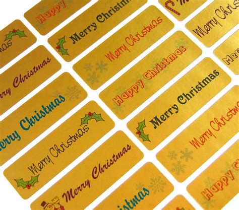 merry happy christmas greeting stickers labels  cards envelopes xg ebay