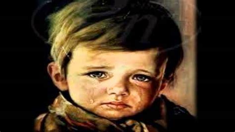 imagenes de bebes tristes llorando los ni 241 os llorones los cuadros malditos youtube