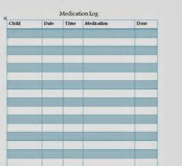 Medication Log Template by Medication Log Sheet Template Car Interior Design