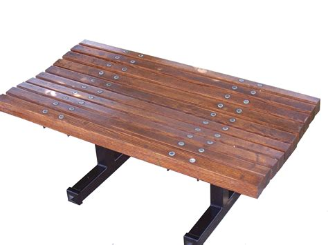 wood park bench contoured backless wooden bench wood park benches
