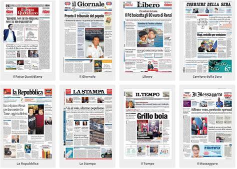testate dei giornali la cagna elettorale per le europee sulle prime pagine