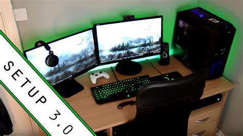 room setup gaming setup room tour 2017 small room setup