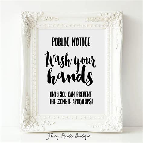 bathroom signs printable free funny bathroom sign printable artwash your handszombie