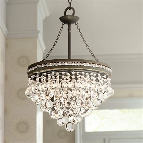 bedroom crystal chandelier regina olive bronze 19 quot wide crystal chandelier