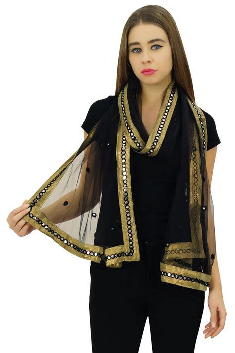 Abaya Sari India Pasmina 4 indian dupatta neck wrap chunni scarf shawl fashion net stole nd757a ebay