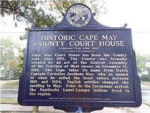 Gloucester County Clerk Records History Of Cape May County Cape May County Nj Official Website