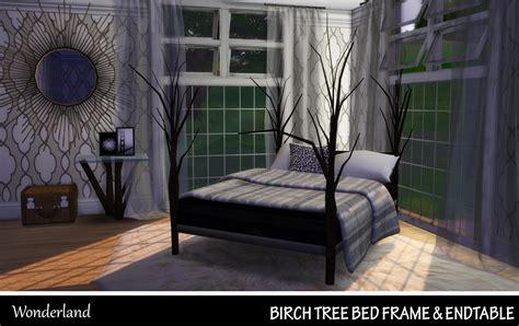 tree bed frame sims 4 wonderland birch tree bed frame endtable