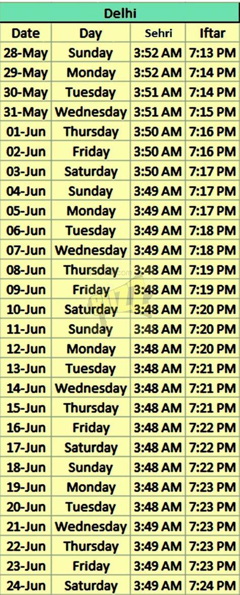 Calendar When Did It Start Ramzan Time Table 2017 Ramadan Schedule In Pdf